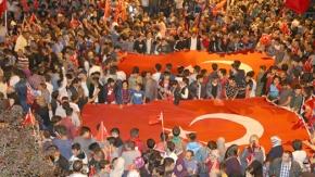 15 Temmuz hain darbe girişiminin 3. yıldönümünde Erzurum...