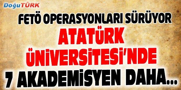 ATATÜRK ÜNİVERSİTESİ'NDE 7 AKADEMİSYEN DAHA...