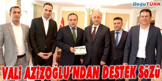 VALİ AZİZOĞLU'NDAN BB ERZURUMSPOR'A DESTEK SÖZÜ
