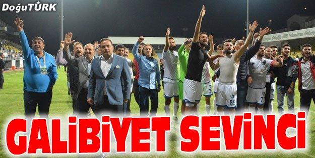 BB ERZURUMSPORDA GALİBİYET SEVİNCİ