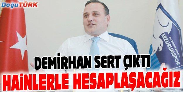 BB ERZURUMSPOR'DAN SERT AÇIKLAMA
