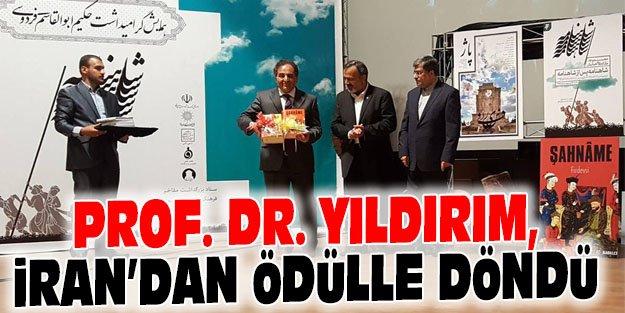 PROF. DR. YILDIRIM, İRAN'DAN ÖDÜLLE DÖNDÜ