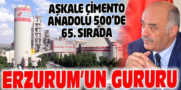 AŞKALE ÇİMENTO ANADOLU 500'DE 65'NCİ