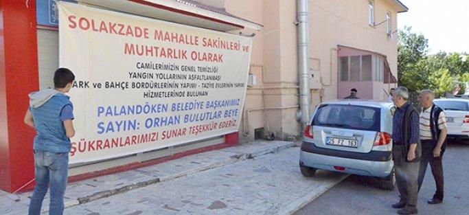 BULUTLAR'A HİZMET TEŞEKKÜRÜ