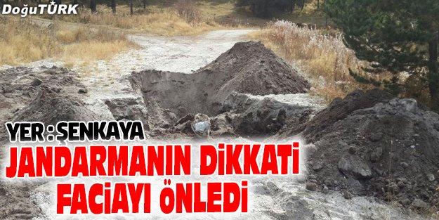 ŞENKAYA'DA YOLA TUZAKLANAN PATLAYICI İMHA EDİLDİ
