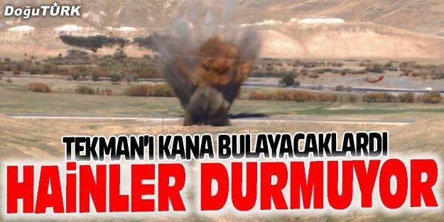 TEKMAN'DA YOLA TUZAKLANMIŞ BOMBA İMHA EDİLDİ