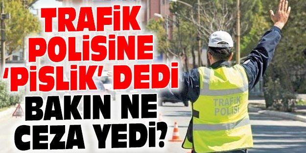 POLİSE 'PİSLİK' DİYEN SÜRÜCÜNÜN CEZASI BELLİ OLDU