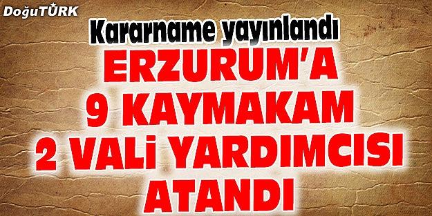 ERZURUM'DA 9 KAYMAKAM DEĞİŞTİ, 2 VALİ YARDIMCISI GELDİ