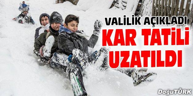 ERZURUM'DA TATİL UZATILDI