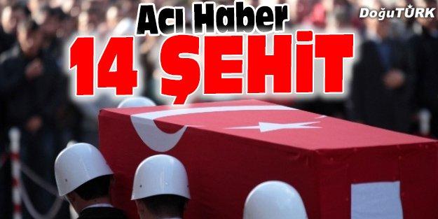 FIRAT KALKANI HAREKATI'NDA 14 ŞEHİT, 6'SI AĞIR 18 YARALI