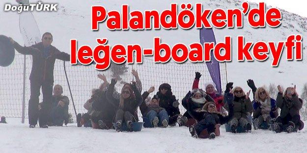 PALANDÖKEN'DE KADINLARIN LEĞEN-BOARD KEYFİ