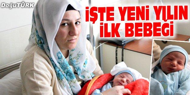 """YENİ YILIN İLK BEBEĞİ """"EYMEN"""" OLDU"""