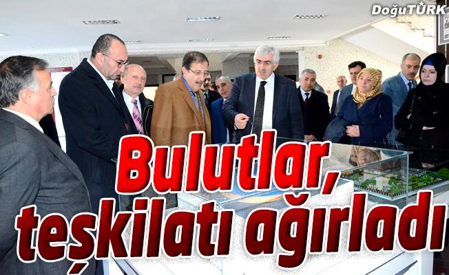 AK PARTİ İL BAŞKANI ÖZ, BELEDİYE BAŞKANI BULUTLAR'I ZİYARET ETTİ