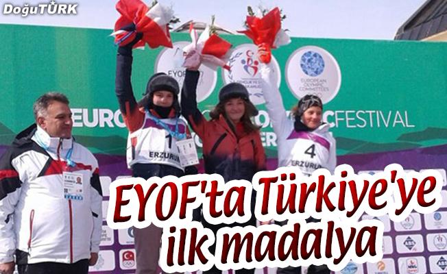 EYOF'TA TÜRKİYE'YE İLK MADALYA