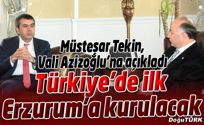 TÜRKİYE'DE İLK KIŞ SPORLARI OKULU, ERZURUM'DA KURULACAK