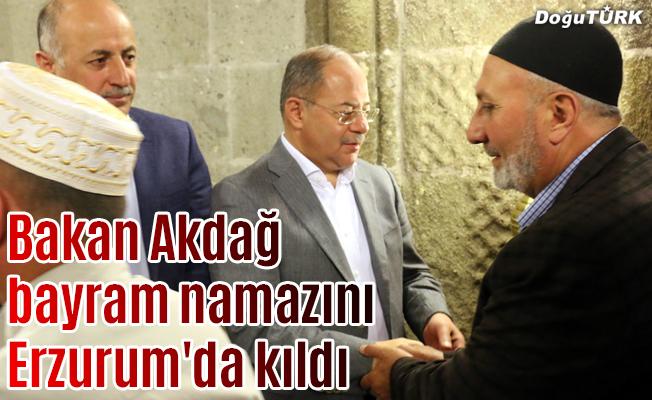 Bakan Akdağ bayram namazını Erzurum'da kıldı