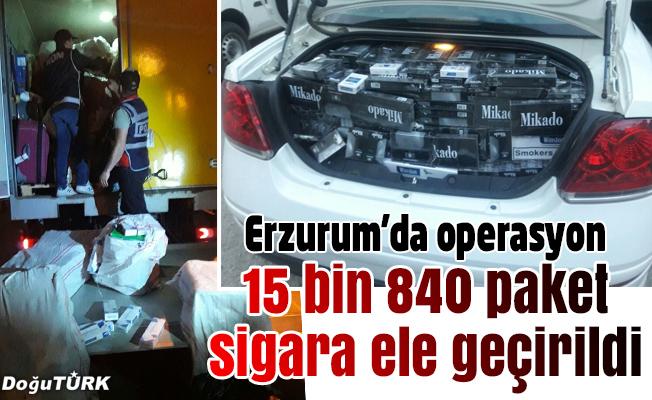 Erzurum'da kaçak sigara operasyonu