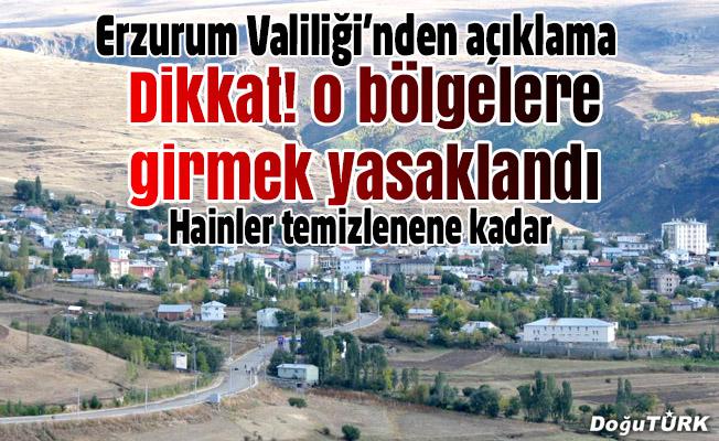 """Erzurum'da """"özel güvenlik bölgesi"""" uygulaması"""