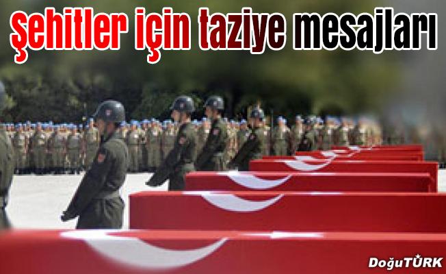 Erzurum'dan taziye mesajı