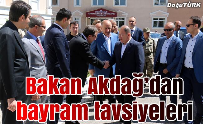 Sağlık Bakanı Akdağ'dan bayram için tavsiyeler