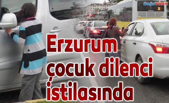 Erzurum'u çocuk dilenciler sardı