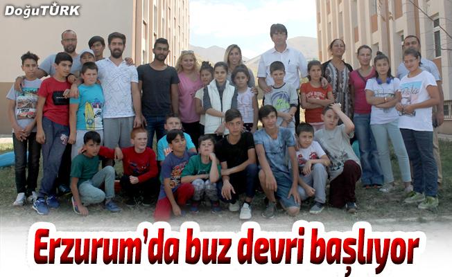 Erzurum'da buz devri başlıyor