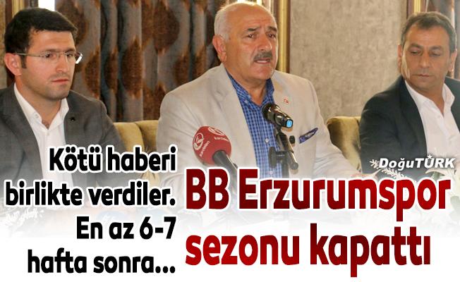 İlk yarı Erzurum'da maç oynanamayacak