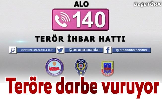 """""""Alo 140 Terör İhbar Hattı"""" teröre darbe vuruyor"""