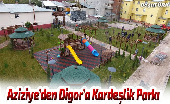 Aziziye'den Digor'a Kardeşlik Parkı