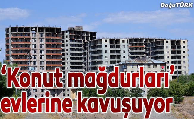 """Erzurum'da """"konut mağdurları"""" evlerine kavuşuyor"""