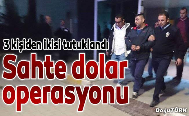 Erzurum'da sahte dolar operasyonu