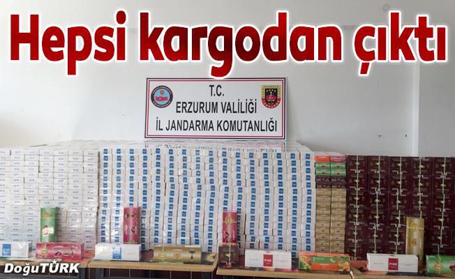 Kargo firmasında kaçak sigara ve tütün ele geçirildi