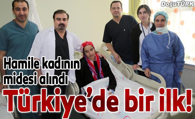 Türkiye'de ilk kez hamile bir kadının midesi ameliyatla alındı