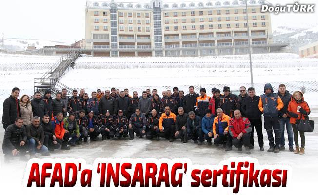 "AFAD'a ""INSARAG"" sertifikası"