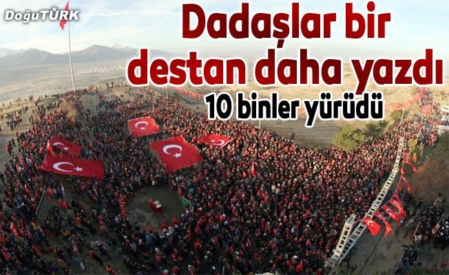 Ecdada saygı yürüyüşüne 10 binler katıldı