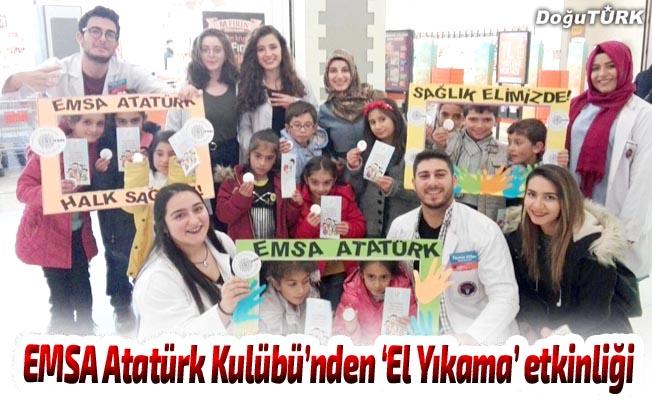 EMSA Atatürk Kulübü üyelerinden 'El Yıkama' etkinliği