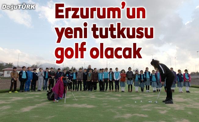 Erzurumluların yeni tutkusu golf olacak
