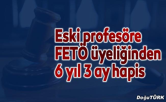 Eski profesöre FETÖ üyeliğinden 6 yıl 3 ay hapis