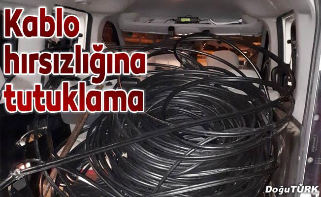 Kablo hırsızlığına 2 tutuklama