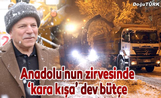 Anadolu'nun zirvesinde 'kara kışa' dev bütçe