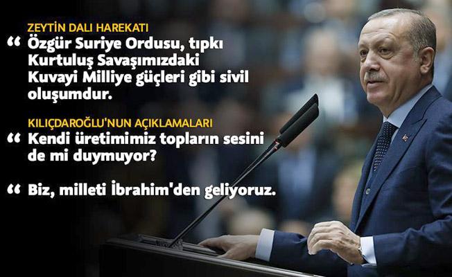 Cumhurbaşkanı Erdoğan'dan Afrin resti!