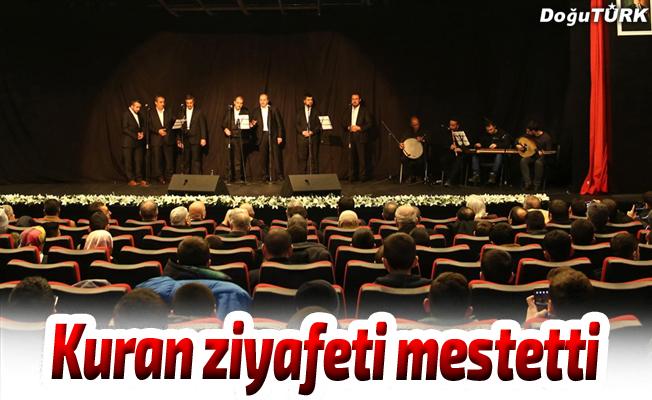 Erzurum'da Kur'an ziyafeti