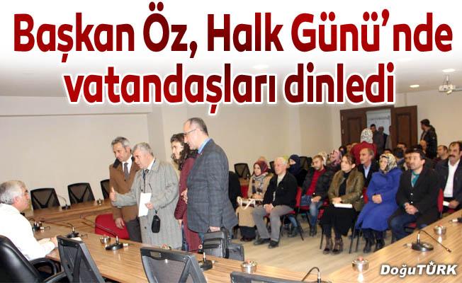 Başkan Öz, Halk Günü'nde vatandaşları dinledi