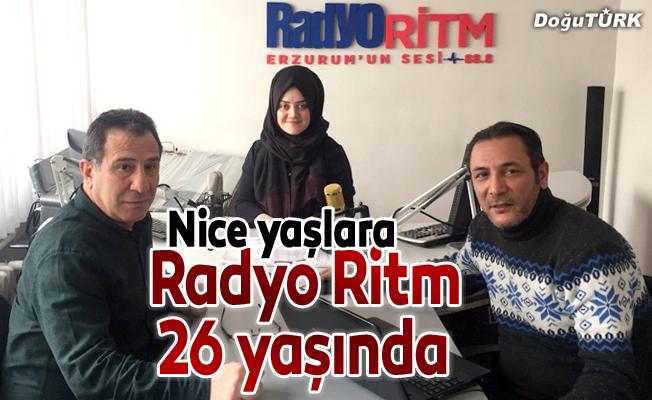 Erzurum'un ilk özel Radyosu Radyo Ritm 26 yaşında
