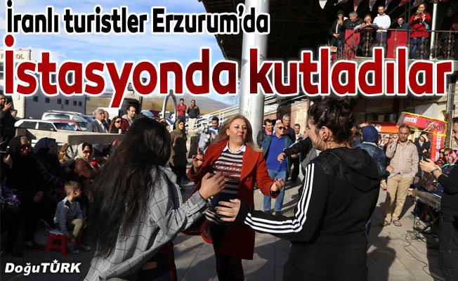 İranlı turistler nevruzu Erzurum'da kutladı