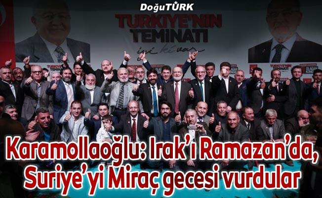 Karamollaoğlu Erzurum'da konuştu