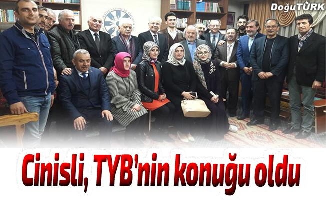 Rasim Cinisli, TYB Erzurum Şubesi'nin konuğu oldu