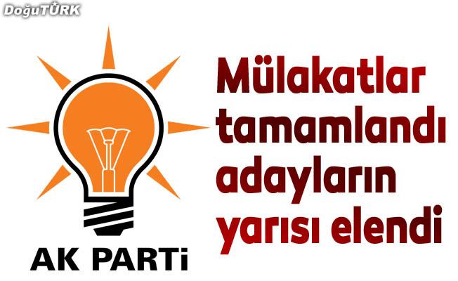 AK Parti'de mülakatlar tamamlandı!