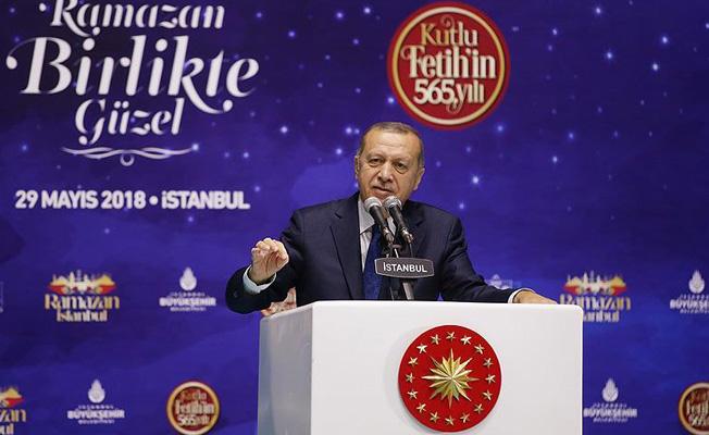 Erdoğan: 'Zulüm 1453'te başladı' diye yazanları unutmadık