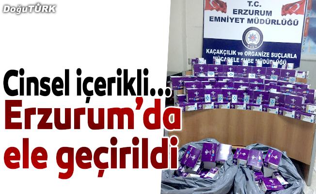 Erzurum'da kaçak cinsel içerikli hap ele geçirildi